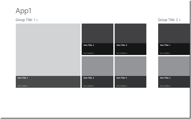 Variable-sized grid items in Windows 8 apps