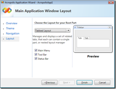 Acropolis application wizard
