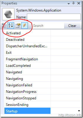 Events in VS2008 WPF designer